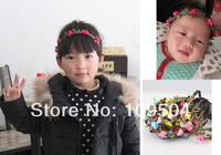 Bohemian Baby Flower Headband Child Girl Kids Floral Garland Hair Band Headwear Hair Accessories for Children Wholesale H131