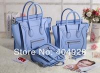 2014 blue smooth original leathe purse  mini nano Micro 3307 3308 3309 smile fashion women handbag top quality wholesale