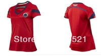 Colombia woman Jersey 2014 Embroidery logo World Cup Female Colombia red jersey Soccer jersey free Size S - XL