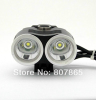 3000Lumen 2 X CREE T6 Bicycle Light Bike Lamp(Battery And Charger Not Include) Free Shipping