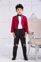 Personality Elegant Fashion Rose Red Boy's Wedding Suit/Boy's Cool Tuxedo /Boy's 4-piece Set Suit 11