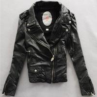 2014 new  autumn women's sheep leather coat slim short design women's lovers design genuine leather jacket  Y2P0