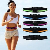 Whole Sale 200pcs/lot Fashion Sport Pack Waist Pocket Bag Fitness Running Jogging Money & Phone Belt Double bag Free Shipment
