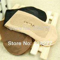 Free Shipping 20pcs=10 pairs/lot  Women's Socks, bamboo fiber Antiskid style new 2014 women anti slip silk cheap high qualtiy