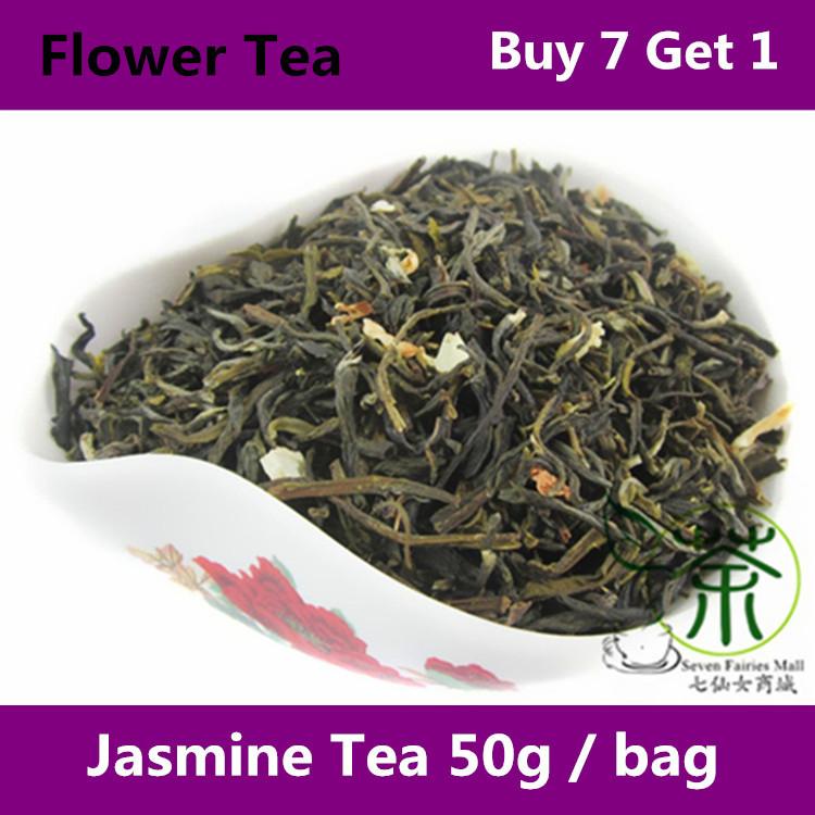 Tea / Flower Tea Beauty And Health Care Jasmine 100g, Organic Flavored Tea 50g * 2 Bag Wholesale Items Traditional Chinese Tea(China (Mainland))