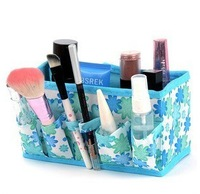 Flowers Cosmetic storage box Foldable stationery Makeup Tools desktop finishing Home Decoration
