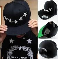 2014 free shipping Hat pentastar female summer stars flat-brimmed hat hiphop skateboard baseball cap sunbonnet