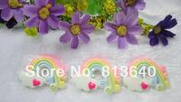Free Shipping 50 PCS/Lots DIY Very Hot and Kawaii   Resin cabochons For  phones and photo frames DIY  Resin rainbow