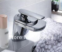 Cheaper  Waterfall Bathroom Basin Sink Deck Mounted Single Hole Chrome Ceramic Single Hole Faucet  Tap MF-672 Mixer Tap Faucet