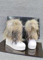 women clothing 2013 genuine leather fox fur boots fur boots flat elevator platform snow boots female