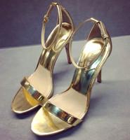women clothing Fashion 2014 di leather sandals gold women's high-heeled fashion shoes