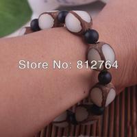 Wholesale 4-side-cut White Seed of Talipot Palm Corypha umbraculifera Linn Buddha wood beads Buddhist malas bracelets Men 9*15mm