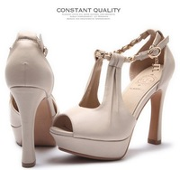 New Arrive! 2014 fashion spring and summer sexy high-heeled sandals female stiletto with platform open toe shoes