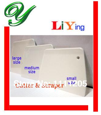 Free ship 3pcs/set Cutter&Scraper Plastic Butter Scrapers Cake Smoother Large Medium 13.5-19.5cm Brush Cream shovels dough knife(China (Mainland))