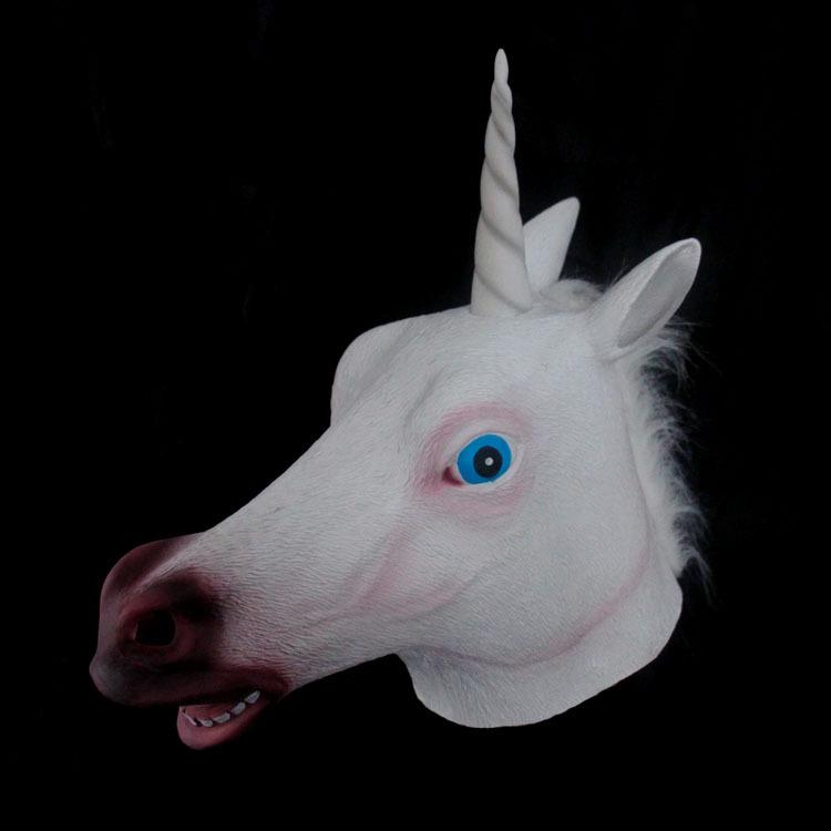 Gift gangnam set of latex gift unicorn mask style performance props(China (Mainland))