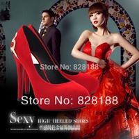 2014 Fashion women pumps Sexy Wedding high heels 12.5cm super high Evening women shoes Free shipping