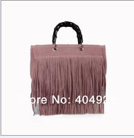 TOSSO tassel  purse 349195  W34H21D15CM 2014  new  fashion women design leather totes bag  handbag top quality