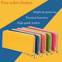 Free shipping beautiful woman's purse, Zip Wallet hands Long Wallet function using five colors