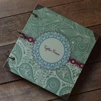 Classical handmade diy photo album this photo album paste type lovers gift green