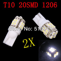 Free shipping Wholesale 2X Auto light led car lamp T10 20SMD car led bulb led wedge bulb 194 168 192 W5W lamp