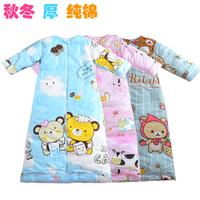 Baby sleeping bag baby child autumn and winter anti tipi cotton 100% 0 - 12 large children sleeping bag