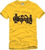 On Sale Tibetan thangka Culture short-sleeve T-shirt Om Mani Padme Hum Buddhism tees shirts New Summer 2014