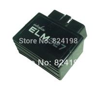100pcs/Lot Free shipping Mini ELM327 Black Color Bluetooth OBD2 EOBD2 Auto Diagnostic Scanner Tool