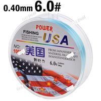 100m Long 6.0# 0.40mm Diameter 28kg Abrasion Resistant Fishing Line Spool Fishing Rope YH-132323