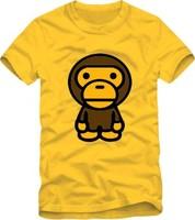 On Sale Lovers Cute bear casual 100% Cotton Short-sleeve tees cartoon comic Tees fashion summer women men monkey shirts 2014