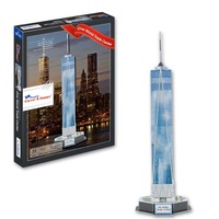 2014 New 3d dimensional adult jigsaw puzzle One World Trade Center construction paper model diy