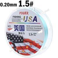 100m Long 1.5# 0.20mm Diameter 7.5kg Abrasion Resistant Fishing Line Spool Fishing Rope YH-132315