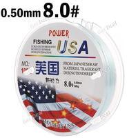 8.0# 100m Long 0.50mm Diameter 32kg Abrasion Resistant Fishing Line Spool Fishing Rope YH-132325