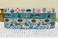 2014 NEW wholesale 5/8 ' 16 mm 100% Polyester Woven Jacquard Ribbon set  40yard/set mixed pirate series KTZ14032207