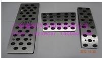 Free shipping for 2014 Volkswagen Touareg pedal aluminum alloy non-slip pedal 2009-2013 VW Touareg Automatic transmission pedal