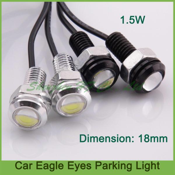 10pcs Parking License Plate Light Angel Eyes LED Car Light 18MM Daytime Running Lights Waterproof 1