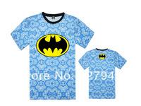2014 new arrival Batman Floral T shirts mens brand name fashion hiphop womens T-shirts short sleeve Free Shipping Szie S-XXXL