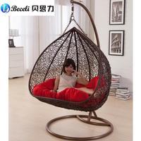 Swing rocking chair indoor outdoor balcony casual rattan hanging chair double hanging basket
