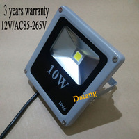 Ultrathin 10W LED Flood Light IP65 Waterproof AC85-265V 1000LM COB poweroutdoor wall Floodlight Lamp,Free Shipping.