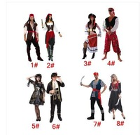 Cosplay bar take dress captain jack sparrow costume party game performance