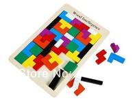 free shipping one set Child wooden Large classic blocks wooden tetris toys