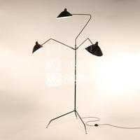 Free shipping, Serge Mouille Three Arm claws European living room floor lamp, diameter 135cm * 2.1m