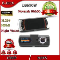 2014 New Car DVR Camera Recorder LS650W Full HD 1920*1080P 30FPS upper Night Vision 2.7'' LCD H.264 G-Sensor Free shipping