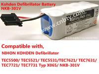 Japan photoelectric TEC7621 TEC7631 portable defibrillation monitor battery NKB - 301 - v