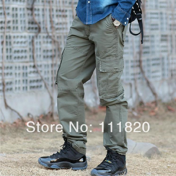 Camo Cargo Pants For Men Slim Combat Work Pants Men Slim