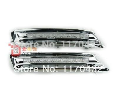 Free Shipping! 2010-12 Toyota highlander daytime running light Fog lights 2pcs/set+wire 6000~7000K! DRL LED car fog lights!(China (Mainland))