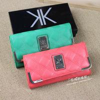 Kardashian Kollection famous brand Kk wallets new in 2014 hot-selling women long design wallet kk purse blue&pink