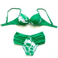 2014 fashion bikini large plus size plus size small steel push up swimwear boxer female swimsuit  323