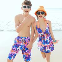2014 lovers swimwear beach lovers set swimwear male beach pants swimwear  323