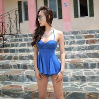2014 steel push up sexy small skirt split hot spring swimwear  323