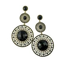 Hot High Quality Women Long Big Alloy & Resin Pendant Vintage Earrings Handmade Bohemia/Ethnic Statement Earring Jewelry 7140